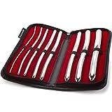 Purovi® Harnröhren Dilator Set | 8 Hegar Stifte mit Doppelenden 3mm bis 18mm | Elegant und diskret im schwarzen Etui
