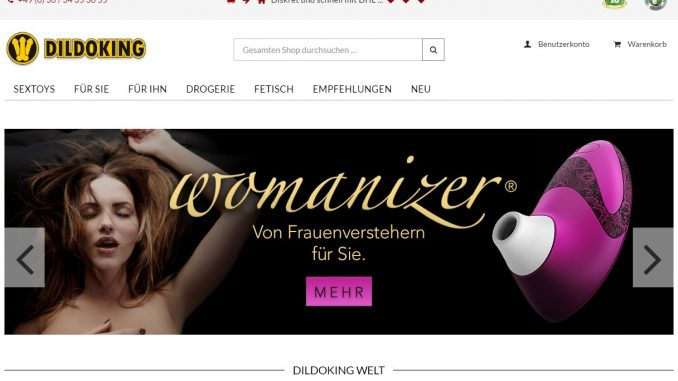 © Dildoking.de Screenshot Webseite