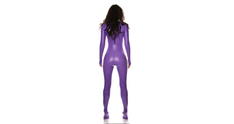 Frau im Latexcatsuit - Catsuit Latex